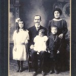 """Steve Manassero's maternal grandparents, Matteo and Camilla Olocco with children, Brigeda, Laura and Frank. They immigrated to America in 1910 to an area of Los Angeles known as """"dog town."""""""