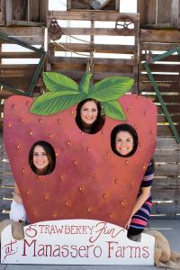 Girls in strawberry